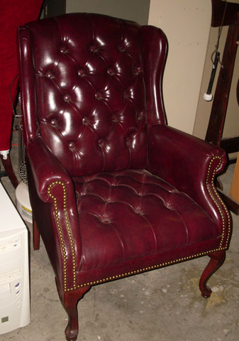 chair faux leather maroon tufted addams family