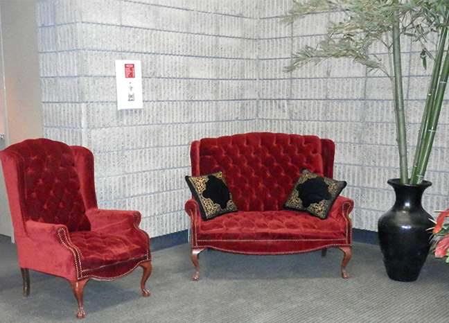 loveseat chair matching red addams family