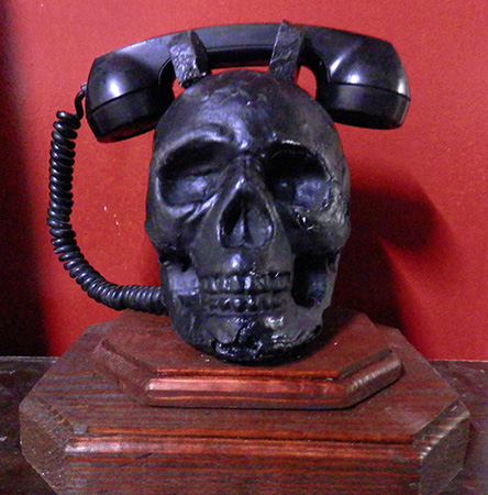 skull Telephone black addams family