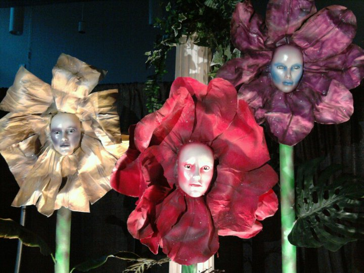 flower heads for Alice in Wonderland