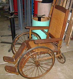 Cane Wheelchair for FDR wood brown annie