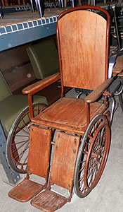 Cane Wheelchair for FDR wood sturdy brown annie