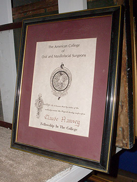 framed certificate colleg medical surgeon