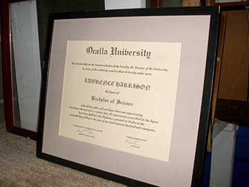 framed college diploma university bachelor of science
