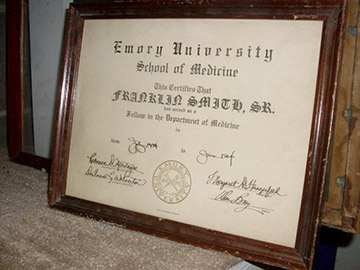 framed medical school diploma emory university medicine