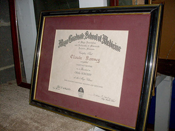 framed medical school diploma medicine