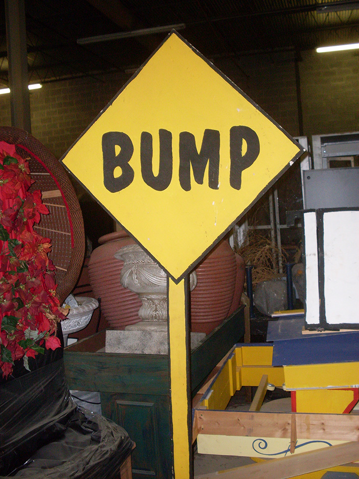 bump sign charlie brown