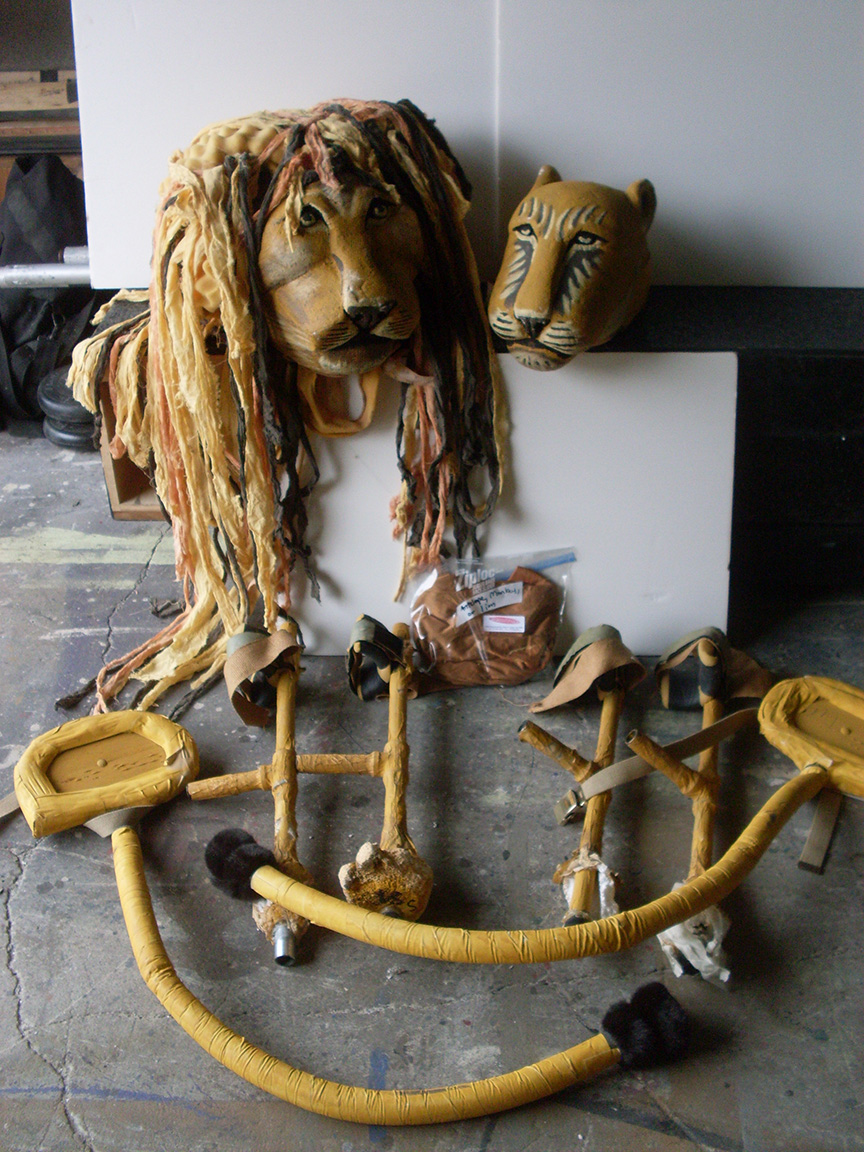 Children of Eden lion lioness puppet