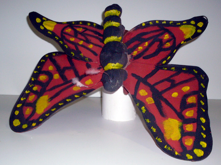 Children of Eden butterfly red and black yellow