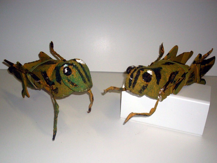 Children of Eden grasshopper pair green
