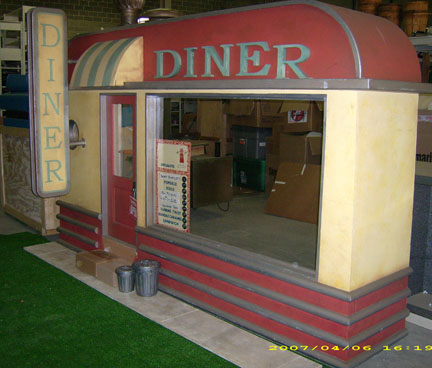 Grease diner store frontage props