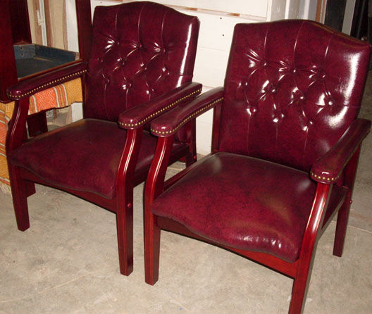 How to Succeed in Business Executive Boardroom Chairs, Burgundy