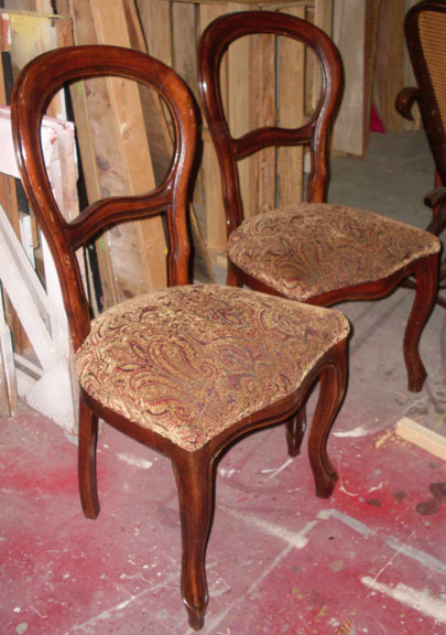 Parlor Chairs Maroon Seats wood Pride and Prejudice
