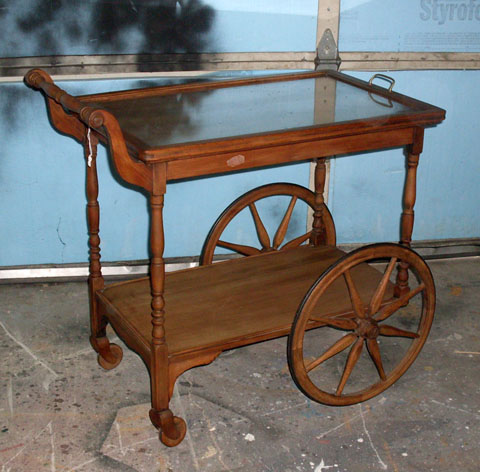 tea cart glass top