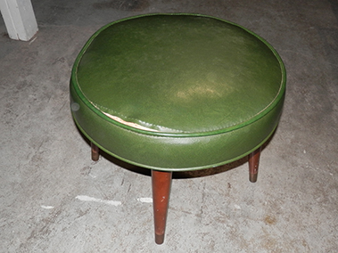 stools green cushion footstool
