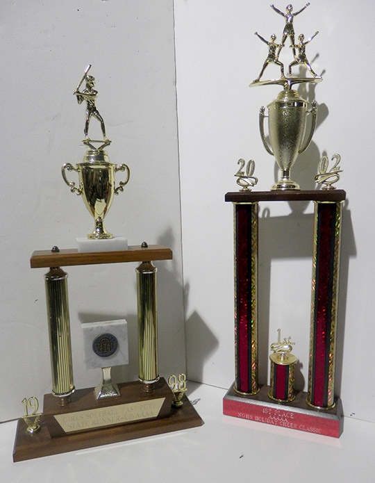 1998 baseball 1st first place cheerleading trophy