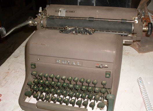 royal typewriter hh manual 1950s