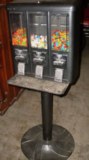 vending machine candy gun 3 head three head grey gray