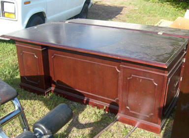 office furniture desk wood cherry executive