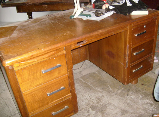 office furniture desk wood 1950