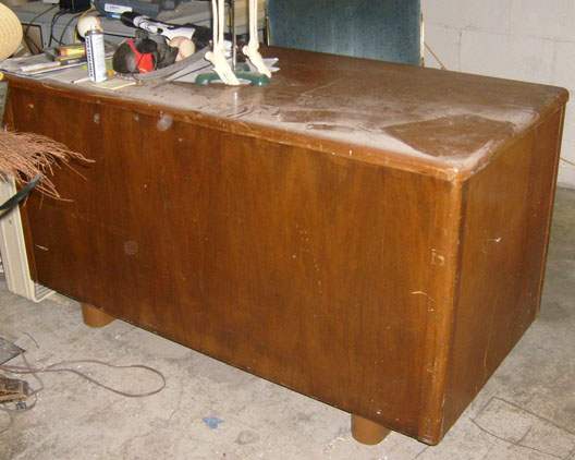 office furniture desk wood 1950s