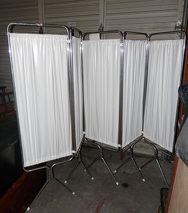 medical privacy screen white
