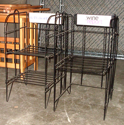 newspaper magazine stands city streets black wire