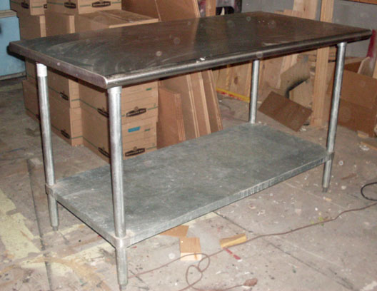 medical lab table stainless steel metal
