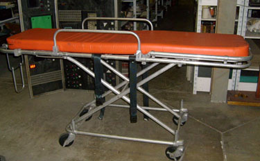 medical hospital gurney orange pad