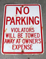 no parking towed sign