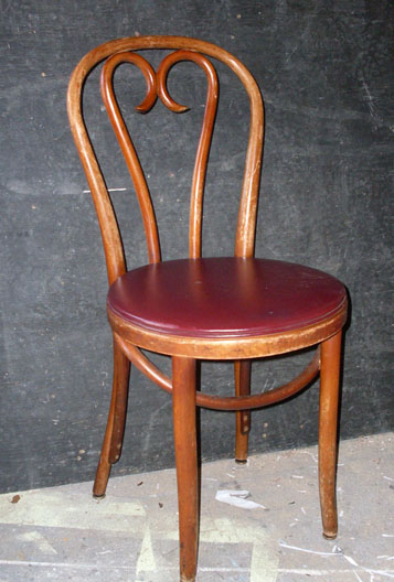 Grease diner chair bentwood maroon