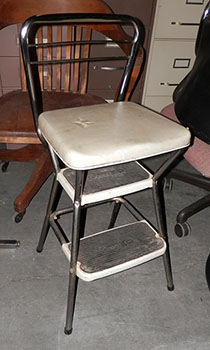 stool high chair step metal vintage