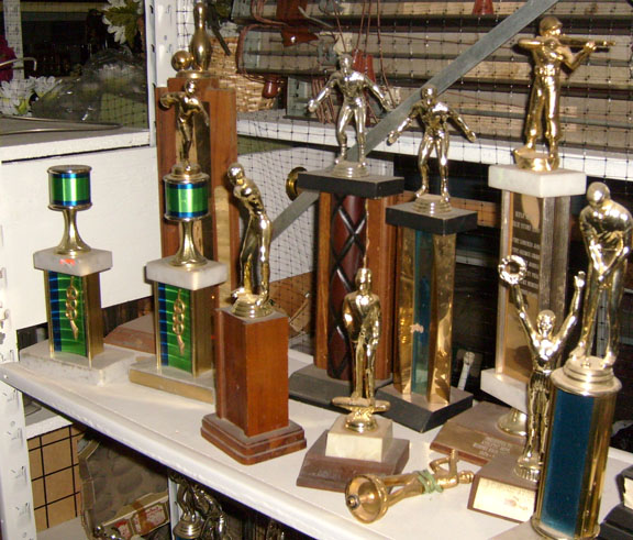 trophies small medium large shooting golf