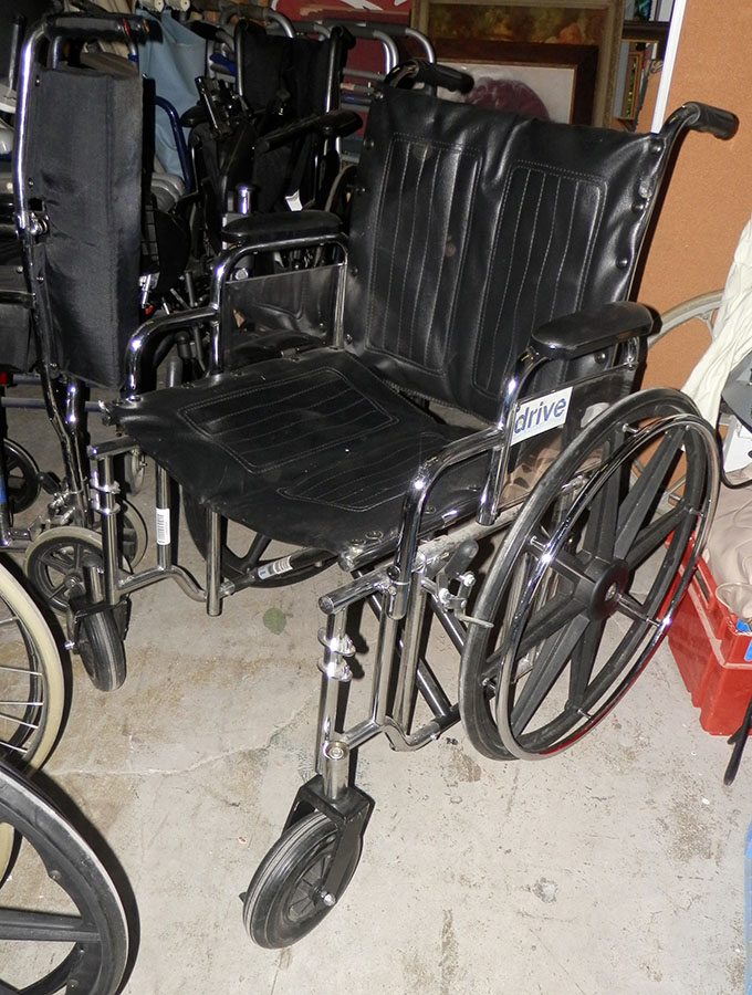 wheelchair contemporary black drive footrests