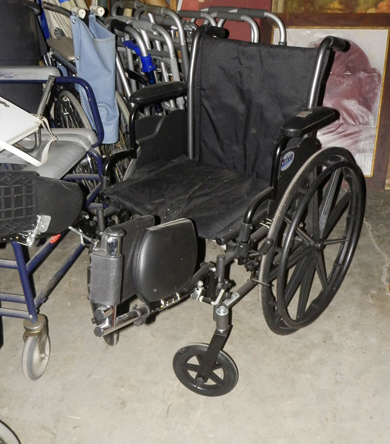 wheelchair contemporary black cloth fo6otrests