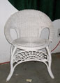 wicker chair small