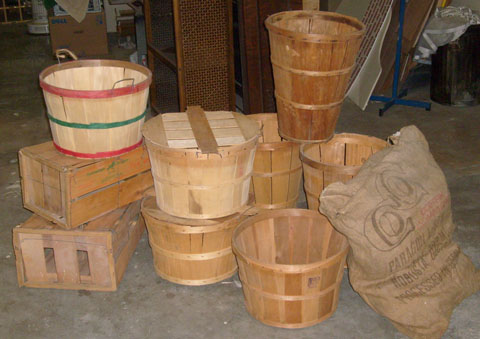 crates baskets bag