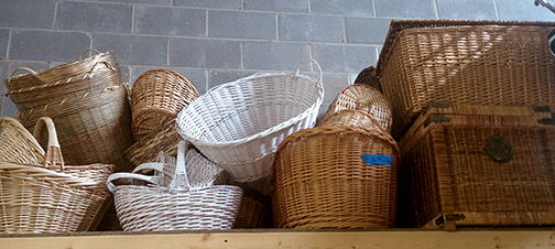 basket wicker medieval village market