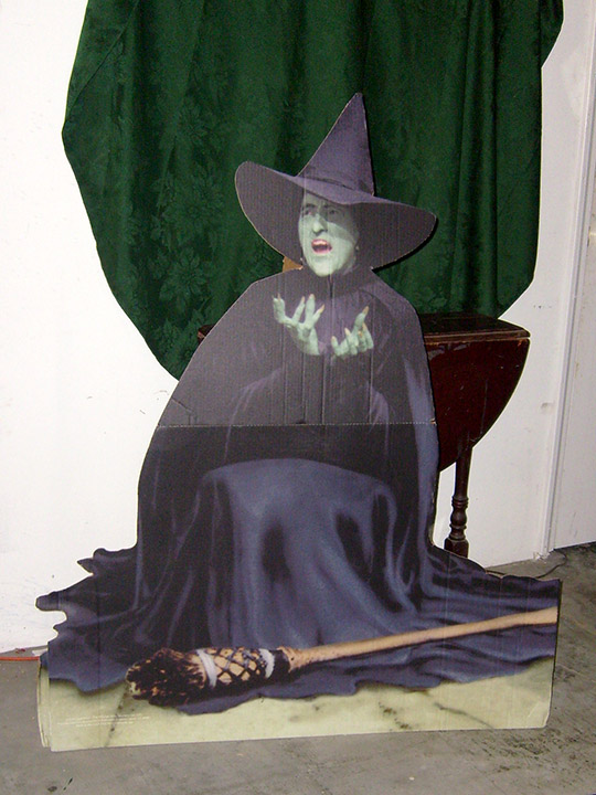 Wizard of Oz cardboard stand-up Wicked Witch broom melting MGM movie
