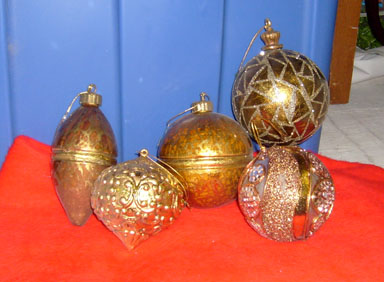 christmas ornaments gold high quality