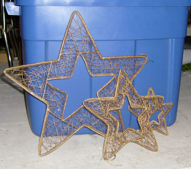 gold wire star christmas ornaments