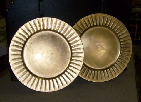 egyptian decor gold platters