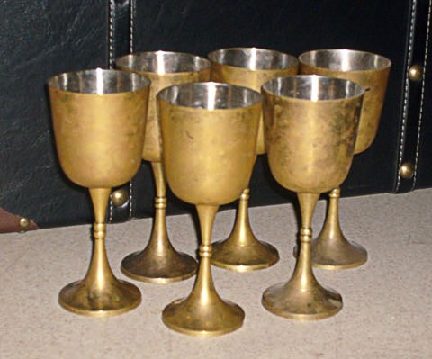 egyptian goblet brass