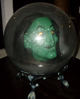 Wizard of Oz Witch head in crystal ball