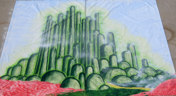 Wizard of Oz Emerald City Backdrop