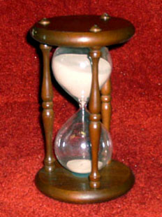 hourglass hour wood glass pink sand wizard of oz