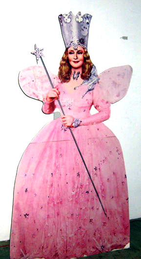 Wizard of Oz cardboard stand-up Glinda Good Witch MGM movie