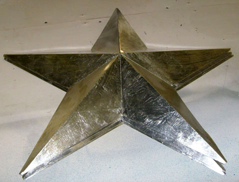 hollywood hanging star silver gold