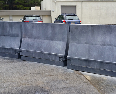 city streets traffic barriers