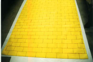 Wizard of Oz canvas Yellow Brick Road Runner